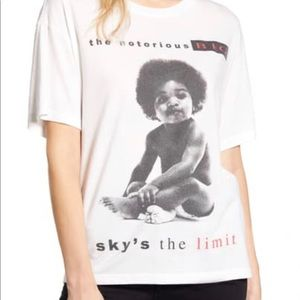 Daydreamer Sky is the limit Notorious BIG tee NWT